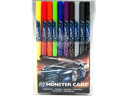 Flomasteri Monster Cars