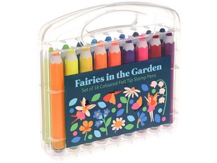 Flomasteri - set 18, Fairies In The Garden - Fairies In The Garden