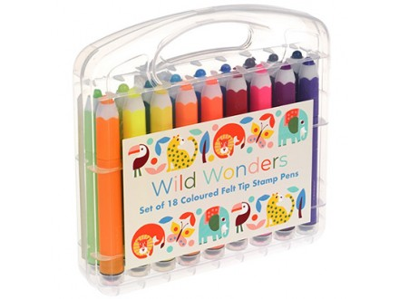 Flomasteri - set 18, Wild Wonders - Wild Wonders
