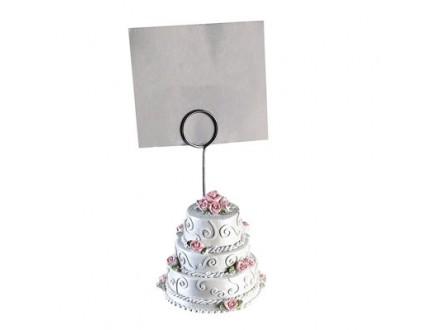 Foto holder - Weddingcake white/rose
