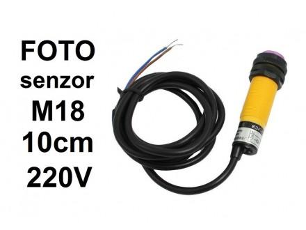 Foto senzor - 10cm - NO - difuzni - 220V - G18