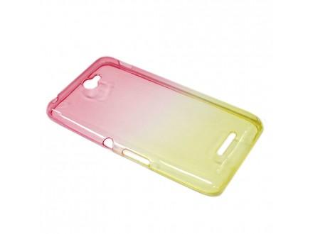 Futrola silikon DOUBLE COLOR za Sony Xperia E4 roze/zuta