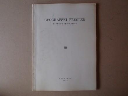 GEOGRAFSKI PREGLED sveska III ( 1959)