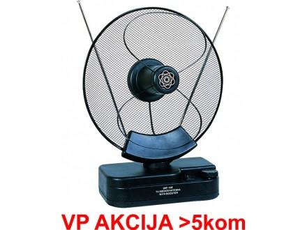 GMB-028 ** Gembird Antena sobna sa pojacalom, UHF/VHF, dobit 30dB, diam 31cm, 220v + 12V crna (636)