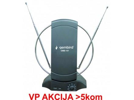 GMB-101 ** Gembird Antena sobna sa pojacalom, UHF/VHF, dobit 25dB, 220v + 12V crna (721)