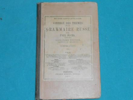 GRAMMAIRE RUSSE/PAUL FUCHS-1897.g.--RR /K-57/