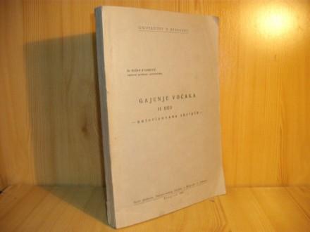 Gajenje voćaka II deo-autorizovana skripta