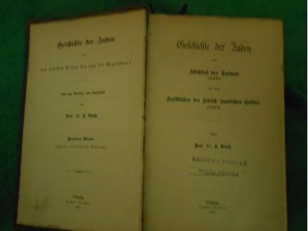 Geschichte der Juden 500-1027.g `ISTORIJA JEVREJA`