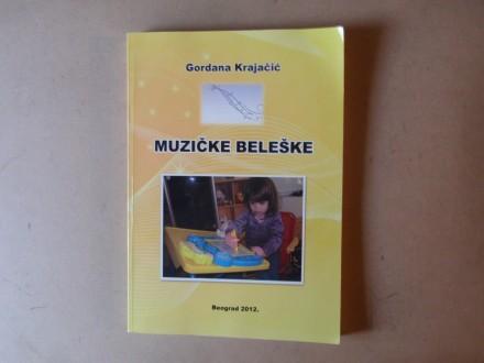 Gordana Krajačić - MUZIČKE BELEŠKE