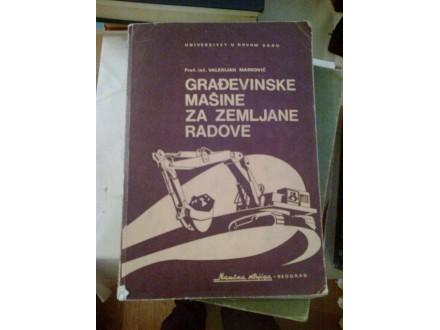 Građevinske mašine za zemljane radove - V. Marković