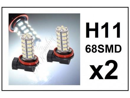 H11 LED Sijalica - 68 SMD dioda - 2 komad