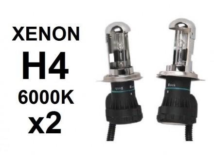 H4 XENON sijalica - 6000K - 35W - Bixenon - 2 kom