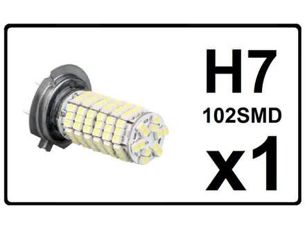 H7 LED Sijalica - 102 SMD dioda - 1 komad