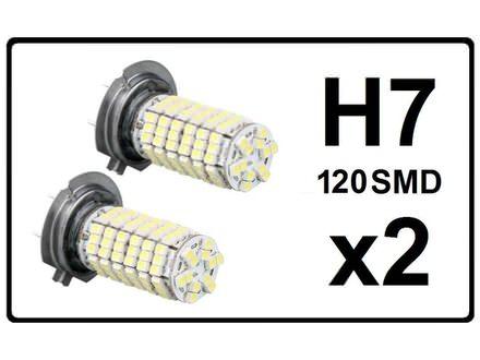 H7 LED Sijalica - 120 SMD dioda - 2 komada