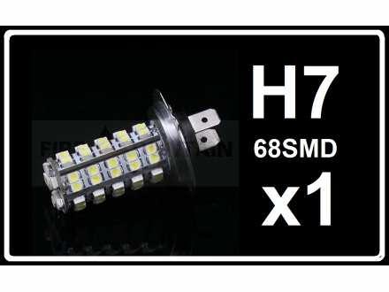 H7 LED Sijalica - 68 SMD dioda - 1 komad