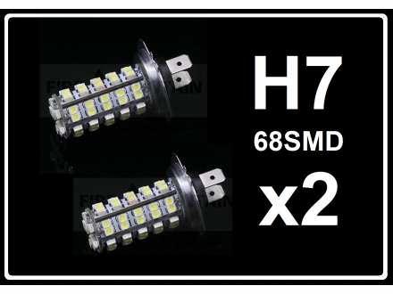 H7 LED Sijalica - 68 SMD dioda - 2 komada