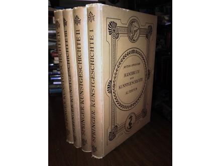 HANDBUCH DER KUNSTGESCHICHTE I-IV - Springer (1907-09)