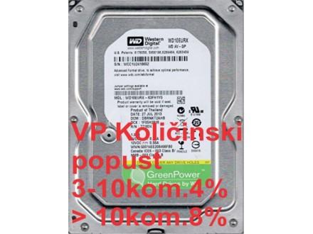 HDD 3.5` ** 1TB WD10EURX WD AV-GP Green IntelliPower 64mb SATA3
