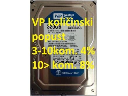 HDD 3.5` ** 320GB WD3200AAJS WD BLUE 7200RPM 8MB SATA