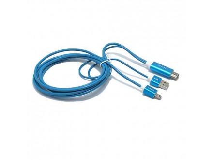 HDTV kabl S-M09 za Samsung S3/S4/NOTE2/NOTE3 (MHL to HDMI) plavi (MS)