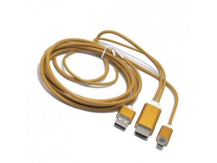 HDTV kabl S-M09 za Samsung S3/S4/S5/NOTE2/NOTE3/NOTE4 (MHL to HDMI) zlatni (MS)