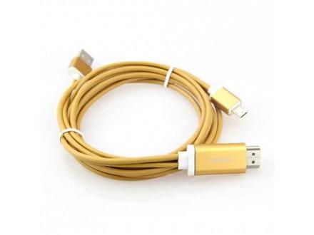 HDTV kabl S-M14 za Samsung S3/S4/NOTE2/NOTE3 (MHL to HDMI) zlatni (MS)