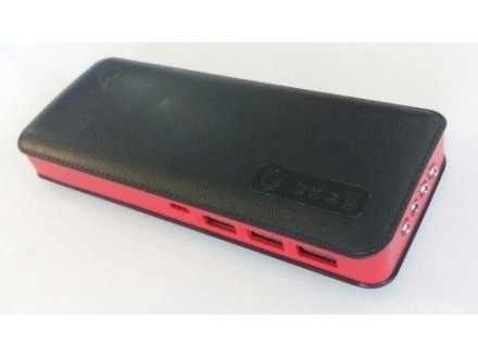 HRD-5343029 ** Gembird 6000mAh power bank + display black, 3xUSB, LED (639)