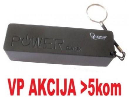 HRD-T19-BL ** Gembird 2600mAh power bank (290) Li-Ion 18650
