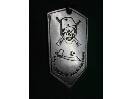 Handžar divizija metalna pločica,SS-Jagdkommando Abteil