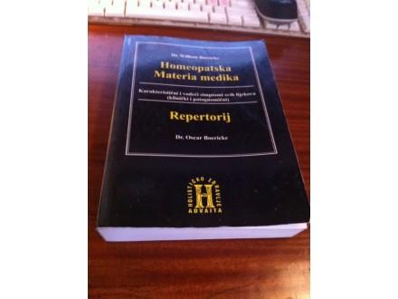 Homeopatska Materia medika repetitorij William Bocricke