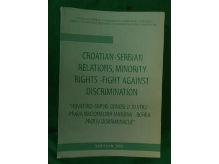 Hrvatsko-Srpski odnosi u 20.veku-nacionalne manjine,dis