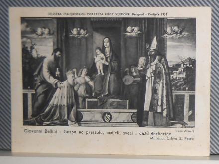 ITALIJANSKI PORTRETI-IZLOŽBA U BEOGRADU 1938  (III-111)