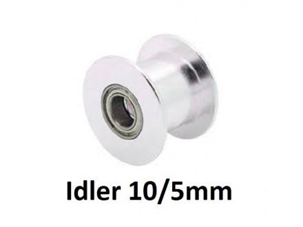 Idler remenica bez zuba - za kais 10mm - 5mm osovina