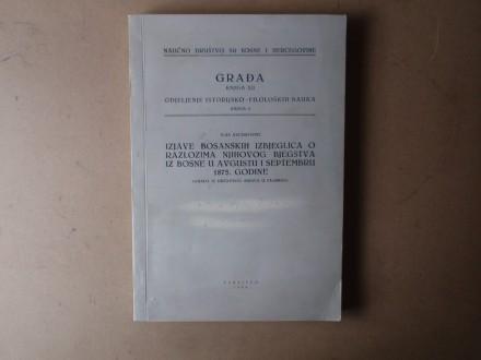 Ilija Kecmanović - IZJAVE BOSANSKIH IZBJEGLICA