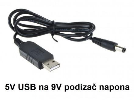 Inverter 5V na 9V DC - Step up USB 800mA