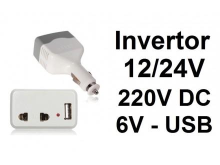 Invertor za upaljac u kolima - 12/24V na 220V DC