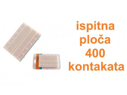 Ispitna ploca - protoboard - 400 kontakata