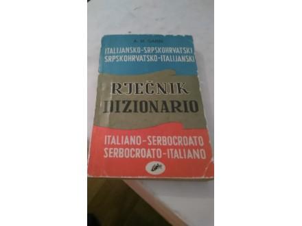 Italijansko-srpskohrvatski rečnik - A. M. Garin