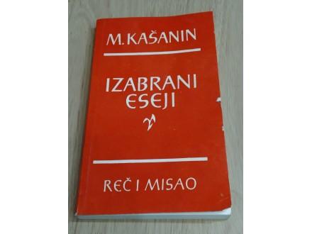 Izabrani eseji - M.Kašanin