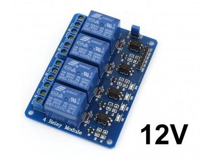 Izlazni rele modul sa 4 kanala - 12V