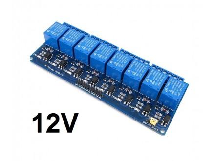 Izlazni rele modul sa 8 kanala - 12V