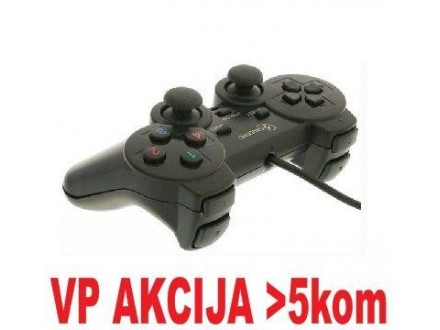 JPD-THRILLERSHOCK-BOX ** Gembird USB 2.0 analog vibration gamepad black(37ky) (343)