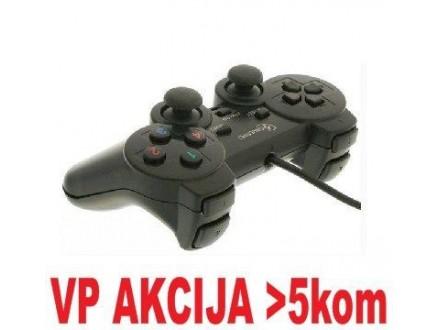 JPD-THRILLERSHOCK-BOX ** Gembird USB 2.0 analog vibration gamepad black(37ky) (375)