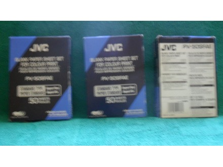 JVC PV-50SFAE Blank paper sheet set for colour print/3.