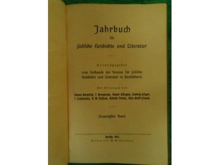 Jahrbuch für Jüdische Geschichte und Literatur 1917.g