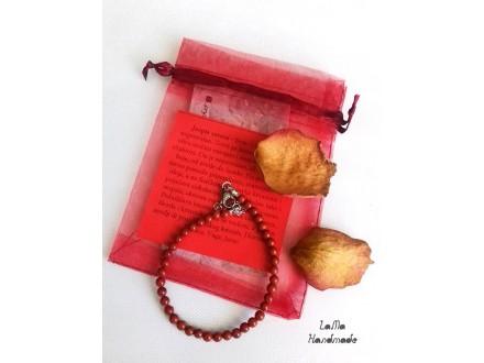 Jaspis crveni narukvica