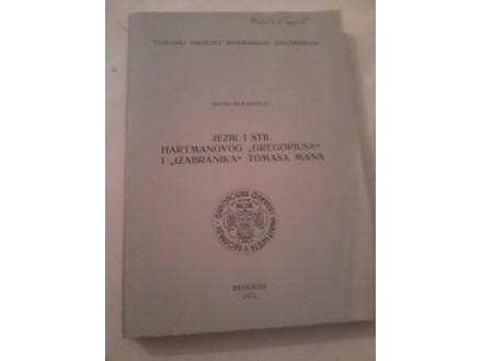 Jezik i stil hartmanovog `Gregoriusa` i `Izabranika`