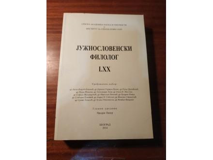 Južnoslovenski filolog LXX  Predrag Piper 2014