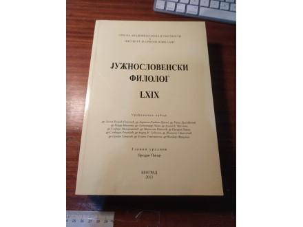 Južnoslovenski filolog Piper LXIX 2013