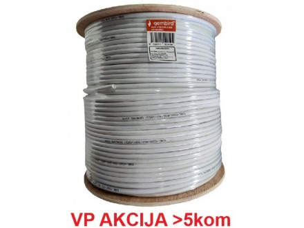 KABL-COAX-RG6/300 white (X553) **koaksialni kabl RG6 bez konektora, conductivity 18%,6.5mm,300m 2799